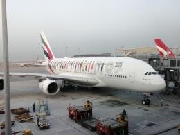 磐城さんが、香港国際空港で撮影したエミレーツ航空 A380-842の航空フォト(飛行機 写真・画像)