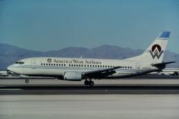 ゴンタさんが、マッカラン国際空港で撮影したアメリカウエスト航空 737-301の航空フォト(飛行機 写真・画像)