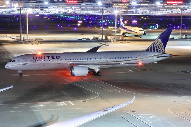2021年10月24日に撮影されたユナイテッド航空の航空機写真