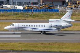 (新)ふぁんとむ改さんが、福岡空港で撮影したグローバル・ジェット・ルクセンブルク Falcon 7Xの航空フォト(飛行機 写真・画像)