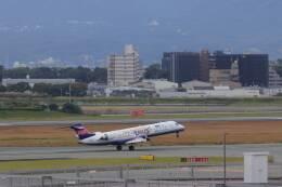 double_licenseさんが、伊丹空港で撮影したアイベックスエアラインズ CL-600-2C10(CRJ-702)の航空フォト(飛行機 写真・画像)