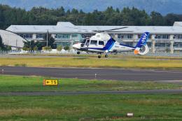 Cスマイルさんが、花巻空港で撮影したオールニッポンヘリコプター AS365N2 Dauphin 2の航空フォト(飛行機 写真・画像)