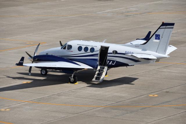 Cスマイルさんが、花巻空港で撮影したアジア航測 C90GTi King Airの航空フォト(飛行機 写真・画像)