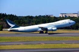 まいけるさんが、成田国際空港で撮影したキャセイパシフィック航空 747-867F/SCDの航空フォト(飛行機 写真・画像)