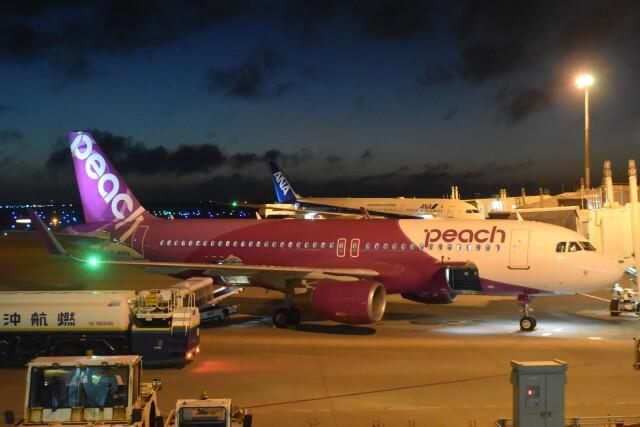 PIRORINGさんが、那覇空港で撮影したピーチ A320-214の航空フォト(飛行機 写真・画像)