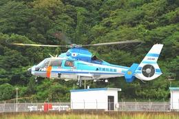 うさぎぱぱさんが、奄美ヘリポートで撮影した沖縄県警察 AS365N3 Dauphin 2の航空フォト(写真)
