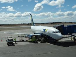 katsuakiさんが、プレジデンテ・カルロス・イバニェス・デル・カンポ国際空港で撮影したスカイ・エアライン 737-2Q3/Advの航空フォト(飛行機 写真・画像)