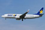 Scotchさんが、成田国際空港で撮影したスカイマーク 737-81Dの航空フォト(飛行機 写真・画像)