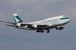 ★azusa★さんが、関西国際空港で撮影したキャセイパシフィック航空 747-412(BCF)の航空フォト(飛行機 写真・画像)