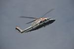 hirokongさんが、砂町南運河で撮影した朝日航洋 S-76Cの航空フォト(飛行機 写真・画像)