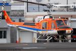 Chofu Spotter Ariaさんが、東京ヘリポートで撮影した新日本ヘリコプター 204B-2(FujiBell)の航空フォト(写真)