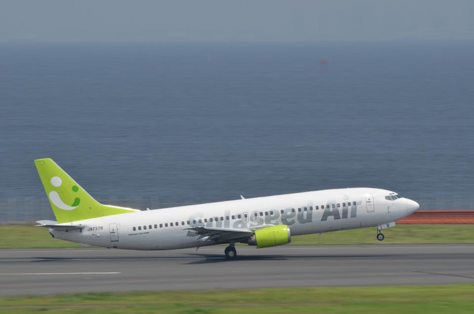 あっしーさんのソラシド エア Boeing 737-400 (JA737B) 航空フォト