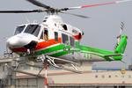 Chofu Spotter Ariaさんが、東京ヘリポートで撮影した群馬県防災航空隊 412EPの航空フォト(飛行機 写真・画像)