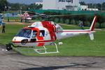 へりさんが、朝日航洋川越メンテナンスセンターで撮影した朝日航洋 AS355F2 Twin Starの航空フォト(写真)