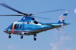 へりさんが、朝日航洋川越メンテナンスセンターで撮影した大分県警察 A109E Powerの航空フォト(写真)