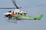 へりさんが、東京ヘリポートで撮影した群馬県防災航空隊 412EPの航空フォト(写真)