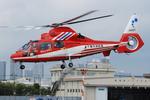 へりさんが、東京ヘリポートで撮影した千葉市消防航空隊 AS365N3 Dauphin 2の航空フォト(写真)