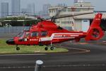 へりさんが、東京ヘリポートで撮影した東京消防庁航空隊 AS365N3 Dauphin 2の航空フォト(写真)