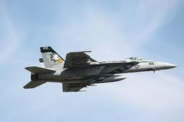 sky123さんが、厚木飛行場で撮影したアメリカ海軍 F/A-18E Super Hornetの航空フォト(写真)
