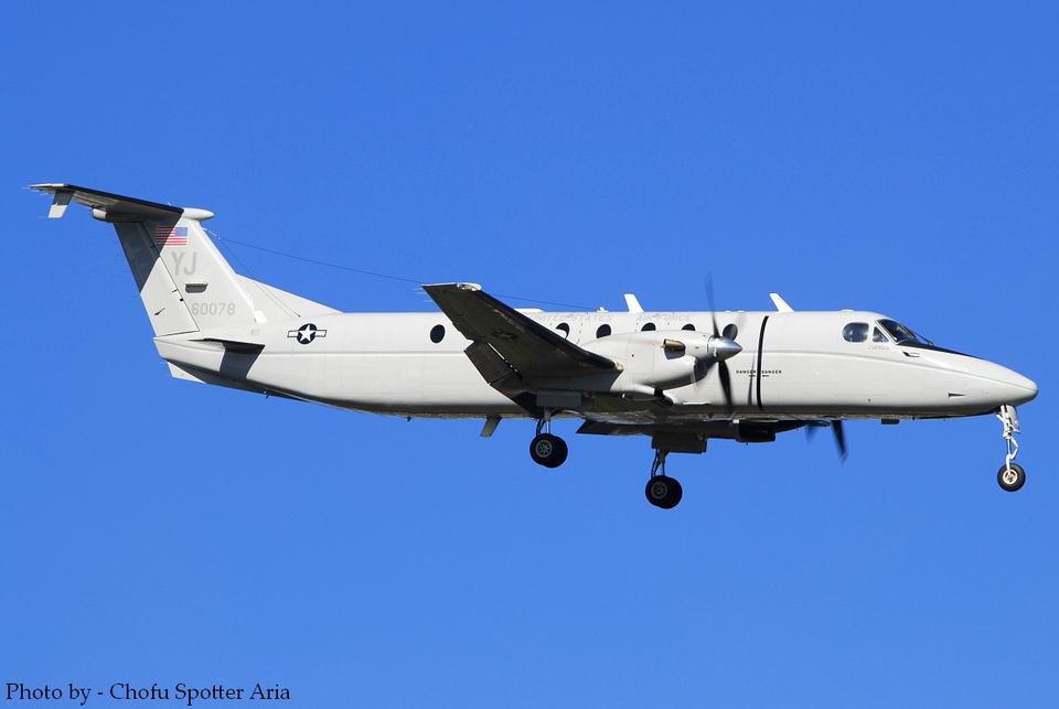 Chofu Spotter Ariaさんのアメリカ空軍 Beechcraft 1900 (86-0078) 航空フォト