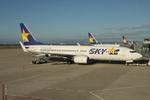 WING_ACEさんが、神戸空港で撮影したスカイマーク 737-8FZの航空フォト(飛行機 写真・画像)