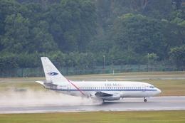 たのさんが、シンガポール・チャンギ国際空港で撮影したトライエムジー イントラ アジア エアラインズ 737-210C/Advの航空フォト(飛行機 写真・画像)