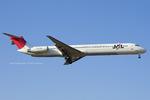 Scotchさんが、名古屋飛行場で撮影した日本航空 MD-81 (DC-9-81)の航空フォト(飛行機 写真・画像)