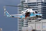 へりさんが、神奈川県横浜市みなとみらいで撮影した海上保安庁 412EPの航空フォト(写真)