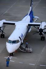 パンダさんが、仙台空港で撮影したANAウイングス DHC-8-402Q Dash 8の航空フォト(飛行機 写真・画像)