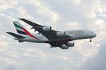 うえぽんさんが、成田国際空港で撮影したエミレーツ航空 A380-861の航空フォト(写真)