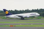 うえぽんさんが、成田国際空港で撮影したルフトハンザドイツ航空 A380-841の航空フォト(写真)