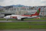 アイスコーヒーさんが、福岡空港で撮影したティーウェイ航空 737-83Nの航空フォト(飛行機 写真・画像)