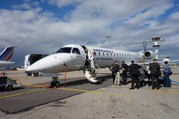 de laさんが、リヨン・サンテグジュペリ空港で撮影したレジォナル ERJ-145EUの航空フォト(飛行機 写真・画像)