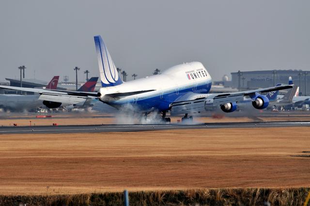 aMigOさんが、成田国際空港で撮影したユナイテッド航空 747-422の航空フォト(飛行機 写真・画像)