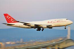 あかりんさんが、関西国際空港で撮影したエア・カーゴ・ジャーマニー 747-412(BCF)の航空フォト(飛行機 写真・画像)