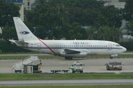 KTX8929さんが、シンガポール・チャンギ国際空港で撮影したトライエムジー イントラ アジア エアラインズ 737-210C/Advの航空フォト(飛行機 写真・画像)