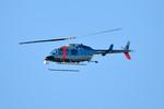 パンダさんが、成田国際空港で撮影した千葉県警察 206L-4 LongRanger IVの航空フォト(写真)