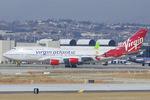 Scotchさんが、ロサンゼルス国際空港で撮影したヴァージン・アトランティック航空 747-4Q8の航空フォト(写真)