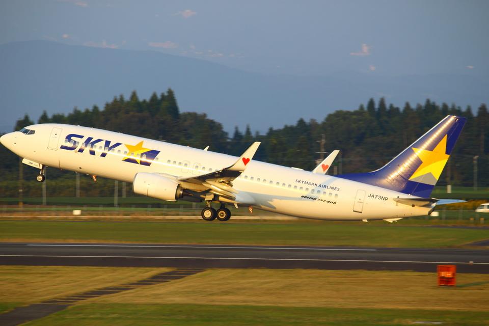 Kuuさんのスカイマーク Boeing 737-800 (JA73NP) 航空フォト