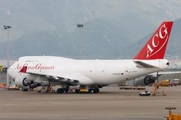 kinsanさんが、香港国際空港で撮影したエア・カーゴ・ジャーマニー 747-412(BCF)の航空フォト(飛行機 写真・画像)