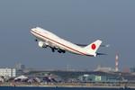 しんさんが、羽田空港で撮影した航空自衛隊 747-47Cの航空フォト(写真)