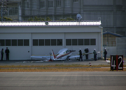 たぁさんが、広島西飛行場で撮影した日本個人所有 C23 Sundowner180の航空フォト(飛行機 写真・画像)
