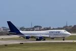 Severemanさんが、嘉手納飛行場で撮影したユナイテッド航空 747-422の航空フォト(写真)