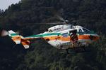へりさんが、静岡ヘリポートで撮影した静岡県消防防災航空隊 BK117C-1の航空フォト(写真)