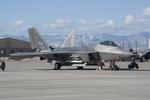 eagletさんが、Nellisで撮影したアメリカ空軍 F-22A-20-LM Raptorの航空フォト(写真)