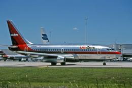 Gambardierさんが、オーランド国際空港で撮影したUSエア 737-2B7/Advの航空フォト(飛行機 写真・画像)