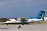 xxxxxzさんが、那覇空港で撮影した琉球エアーコミューター DHC-8-103Q Dash 8の航空フォト(飛行機 写真・画像)