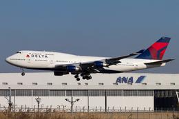 PINK_TEAM78さんが、成田国際空港で撮影したデルタ航空 747-451の航空フォト(飛行機 写真・画像)