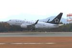 ふじいあきらさんが、広島空港で撮影したユナイテッド航空 737-724の航空フォト(飛行機 写真・画像)