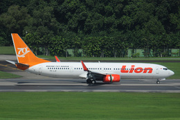 kansaigroundさんが、シンガポール・チャンギ国際空港で撮影したライオン・エア 737-9GP/ERの航空フォト(飛行機 写真・画像)